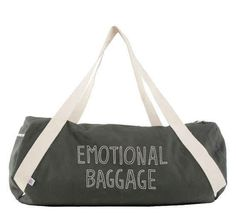 A bag for lugging around your unresolved issues (or your gym clothes).