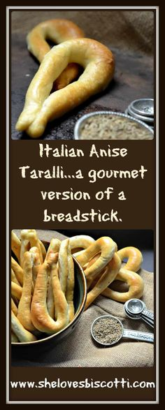 Forget the bag of chips! This recipe for these Crunchy Addictive Italian Anise Taralli taste like a gourmet version of a breadstick. Great for snacking. Italian Snacks, Italian Cookie Recipes, Italian Cookies, Italian Desserts, Italian Dishes, Baking Recipes, Snack Recipes, Dessert Recipes, Gourmet Desserts