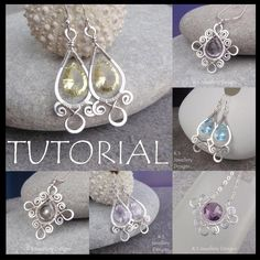 Wire Jewelry Tutorial - SPIRAL LOOP FRAMES (Earrings & Pendants) - Step by Step…