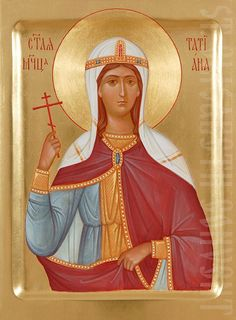 This icon of Holy Martyr Tatiana is painted by skilful icon painters of St Elisabeth Convent based on your preferences Byzantine Icons, Byzantine Art, Painting Workshop, Painting Studio, Orthodox Prayers, Sainte Cecile, Paint Icon, Orthodox Icons, Tempera