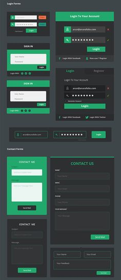 form and FAQ_Flat design
