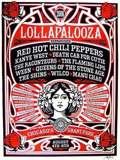 2006 Lollapalooza Commemorative Poster