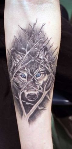 Wolf Tattoos for Arm