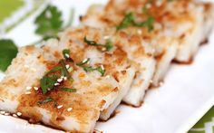 <p>Turnip cake, also known as radish cake or lo bak gou, is a savory steamed traditional Cantonese snack often found in Chinese dim sum restaurants.</p>