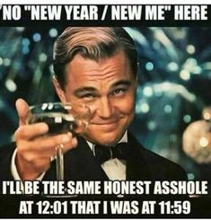 How do you plan on ringing in the New Year? Why not start 2019 with a few laughs from these hilarious New Year memes? Funny holiday pictures Holiday humor Funny New Year cards Christmas jokes Happy New Year Meme, New Year New Me, Happy New Year 2019, New Year Jokes, Quotes About New Year, New Quotes, Funny Quotes, Funny Memes, Funny New Year Quotes