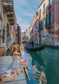 Outfits in Venice - polka dot dress, venice canals, venice b Venice Canals, Venice Italy, Italy Italy, Venice Travel, Italy Travel, Travel List, Budget Travel, Travel Guide, Travel Pictures