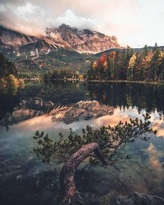 Eibsee, Zugspitze, Germany - by Marcel Siebert Landscape Photography, Nature Photography, Travel Photography, Beautiful Landscapes, Beautiful Images, Image Nature, Nature Aesthetic, Belleza Natural, Adventure Is Out There