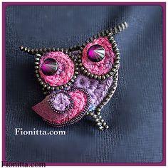 zipper owl, crochet