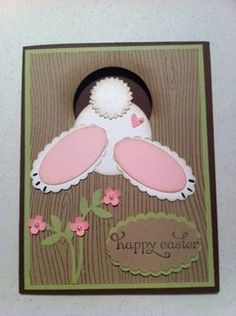 Bunny bum card.  Seriously cute!