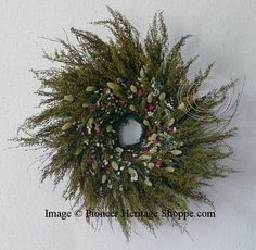 Heritage Wreaths ~ Rustic Annie Herb Wreath ~ Romantic Herb Wedding Wreaths ~ Romantic Herb Wreaths and Rustic Flower Arrangements  at Pioneer Heritage Shoppe!