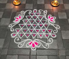 Indian Rangoli Designs, Rangoli Designs Latest, Rangoli Designs Flower, Rangoli Border Designs, Rangoli Designs Images, Rangoli Ideas, Rangoli Designs With Dots, Rangoli With Dots, Easy Rangoli
