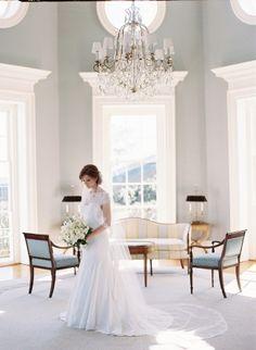 Wedding Dress, Lela Rose; Bouquet, Southern Blooms by Pat's Floral Designs; Venue, Farmington Country Club; Photo: Eric Kelley - Virginia Wedding http://caratsandcake.com/ShanaandChris