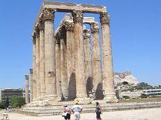Zeus Temple in Athens Greece