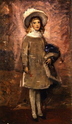 """Frank Duveneck, """"Little Girl in Gray"""""""
