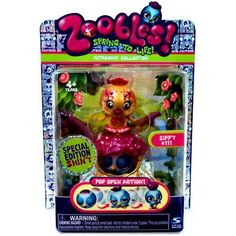 Zoobles Special Edition Single Pack Bird + Happitat Spin Master.