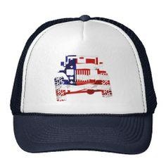 American Flag Off Road Jeep Wrangler Mesh Hat