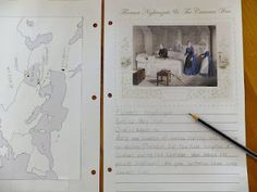 Florence Nightingale notebooking pages -- free printables plus sample photos of student work. #homeschool
