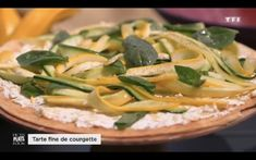 Ma recette de tarte fine aux courgettes - Laurent Mariotte Tarte Fine, Entrees, Pizza, Meat, Chicken, Cooking, Food, 20 Minutes, Index