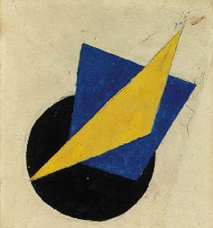 Composition with a Yellow Triangle