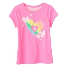 Girls 4-10 Jumping Beans® Graphic Tee, Girl's, Size: 4, Brt Pink