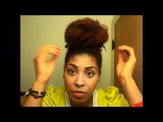 Refer to my regular Marley Braid Bun tutorial for how I mold my hair.
