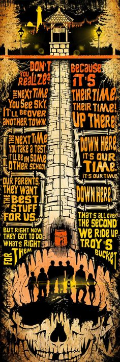 The Goonies (1985) Movie Quotes Poster with Wishing Well