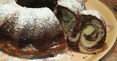 Mennyei Gyors mintás kuglóf recept! Diy Food, Caramel, Pancakes, Muffin, Food And Drink, Pudding, Cookies, Baking, Breakfast