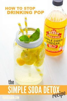 Replace sodas with this -- 1 tablespoons organic apple cider vinegar 16 ounces sparkling mineral water juice of 1 lemon stevia to taste ice tasty detox drinks Apple Cider Vinegar Detox, Organic Apple Cider Vinegar, Weight Loss Meals, Healthy Detox, Healthy Drinks, Healthy Water, Healthy Food, Vegan Detox, Raw Food