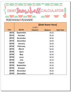 Automatic Debt Snowball Calculator Advanced Automatically  Debt