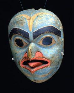 Eagle Spirit Mask, Máscara de chamán tlingit - 1820-50 Fenimore Art Museum
