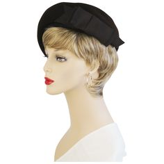 Vintage Hat Brown Felt Asymmetrical Bubble Beret from Alley Cats Vintage at RubyLane.com