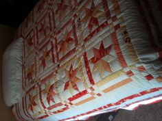 Another angle of the star quilt.