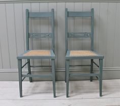 Pair of Distressed Antique Bergere Seated Chairs.