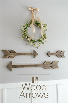 i love arrows! how to make your own! DIY Wood arrows with this easy tutorial!