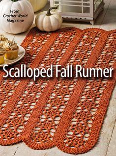 Scalloped Fall Runner from Crochet World-2014.n10