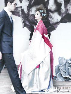 Bridal royal inspired 한복 Hanbok / Traditional Korean dress
