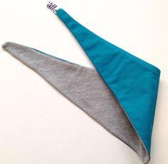 Halstuch grau Sweatshirtstoff / türkis von kamallo auf DaWanda.com