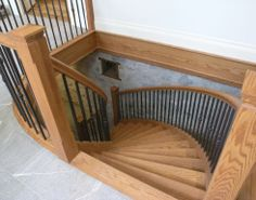 iron ballasters with oak   04 staircases, red oak, wrought iron spindles
