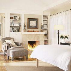 Limestone tile fireplace surround