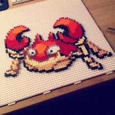 Kraby (098) Pokemon perler beads by victor_sundman