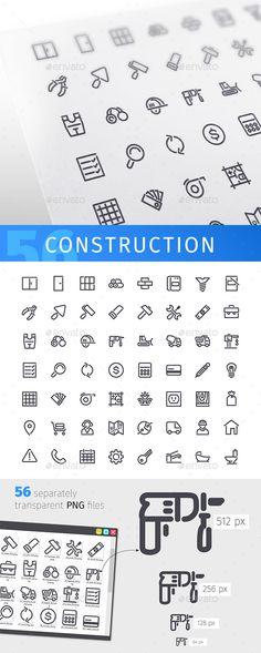 Construction Line Icons Set. Download here: https://graphicriver.net/item/construction-line-icons-set/17514292?ref=ksioks