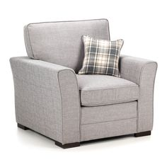 Delightful Apollo Fabric Armchair Lisbon Silver