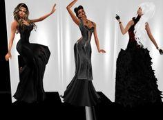 Left: Misty ( myself Co-Owner / Model ), Center: Diesl ( Owner / Model ), & Right: Aluna ( Creator / 2nd Top Model ) Group Evening Dress Photo Shoot #2
