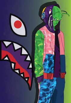 """Young artist Abi presents his new """"Child Hood"""" series, in which his favorite childhood cartoon characters meet his favorite brand, BAPE. Characters from Pokemon, Dragon Ball Z, One Piece and Naruto receive alternate costumes in the form of BAPE shark hoodies – an item that has become iconic in the Japanese brand's collection over the …"""