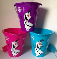 Hey, I found this really awesome Etsy listing at https://www.etsy.com/listing/185749505/set-of-3-plastic-sand-bucketpails-frozen