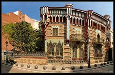Casa Vicens, completed in 1885, the first major work of Gaudí, a private mansion built for Manuel Vicens.by Antoni Gaudi