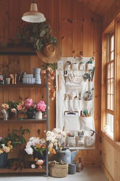 A cross between a gardening apron and a shoe pocket, The Floral Society Canvas Wall Organizer, $134.50, is a catch-all that keeps tools tidy and within arm's reach. Steifman, who is a new mother, points out that it also works well in kids' rooms, as well as kitchens and offices.