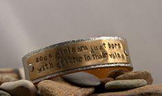 Glitter leather bracelets- 1 1/2 inch wide cuff, custom message, quote cuff