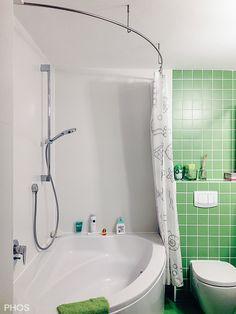 Gebogene Duschvorhangstange für Eckbadewanne