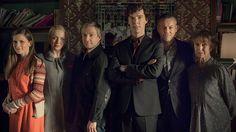 SHERLOCK, Series 3 - Molly, Mary Morstan, John Watson, Sherlock, Detective Inspector Lestrade & Mrs Hudson